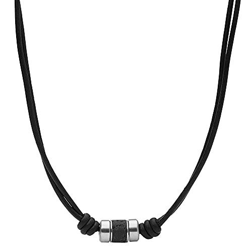 Fossil Damenkette Edelstahl schwarz JF03690040