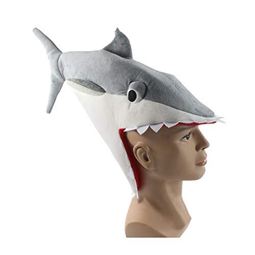 Toyvian Cappelli da Festa Divertenti Cappello da squalo Costume Animale Pesce Cappello novità Cappello Simpatico Cartone Animato Creativo Kawaii Compleanno Regalo Festival di Natale
