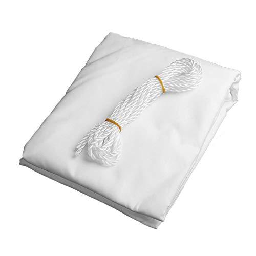 La Cortina de Sun de Vela Rectangular de poliéster Impermeable Toldo de Vela Shade Bloque UV for el Grado al Aire Libre Patio jardín del Patio Trasero 0726 (Color : Blanco, Size : 2X5M)