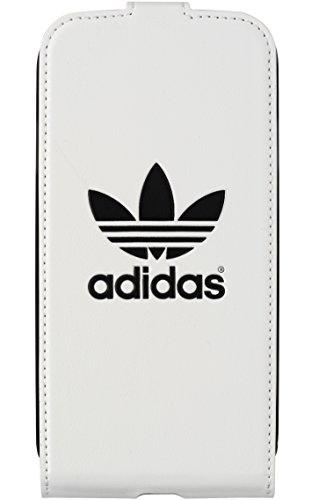 Adidas BXAD15680 - Funda flip con tapa para Samsung Galaxy S4, Blanco/Negro