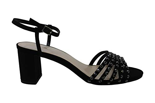Caparros Womens Plaza Open Toe Ankle Strap Classic Pumps Black