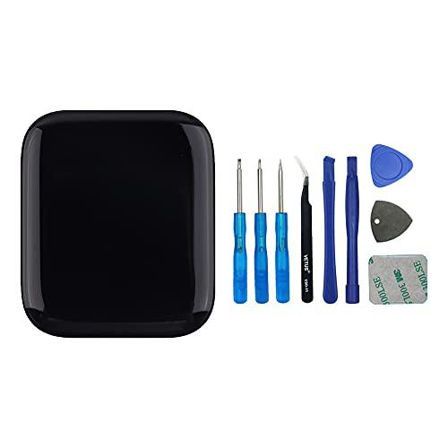 SwarKing wyświetlacz LCD Kompatybilny z Apple Watch Series 5 44 mm/SE 44 mm (GPS + Cellular/GPS) zapasowy ekran dotykowy (bez Ramy) części zamienne i narzędzia