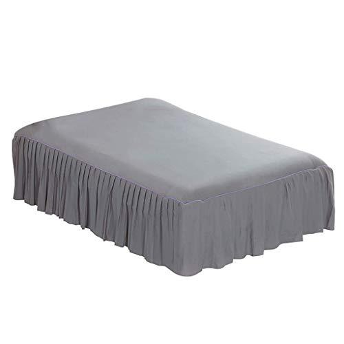 Backbayia Bettlaken, 180 x 200 cm, Baumwolle, Bettbezug mit Rüschen, Dekoration für Schlafzimmer grau