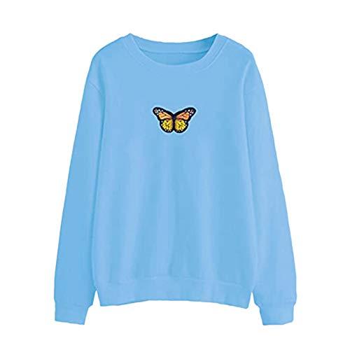 TOFOTL Damen Schmetterling Kapuzenpullover Pullover Pulli Hoodie Sweatshirt mit Kapuze Tasche Sweater Jacke Mantel Langarm für Frauen Oversize Herbst Winter Locker Fit Warm