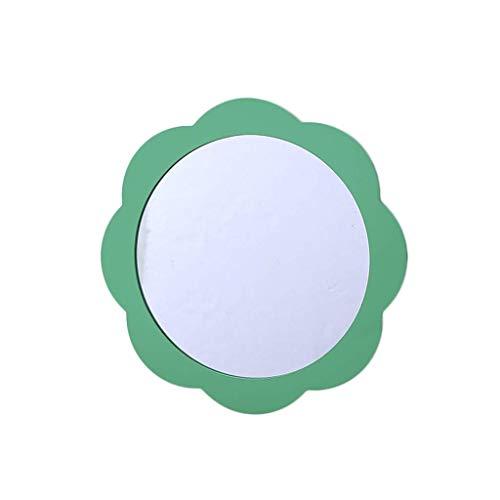 HLL Espejos, Espejo de Espejo Brillante, Espejo de Color, Flores Niña Espejo de Baño Kindergarten Habitación de Niños Biblioteca Espejo Decorativo Escritorio de Escritorio Espejo de Longitud Completa