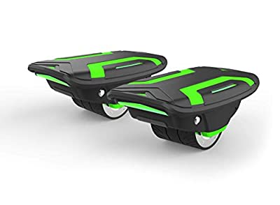 Voyager Space Shoes Hover Skates with Dual 320W Motors | Powerful Hovershoes for Kids & Adults with 6.2 MPH Max Speed, Self Balancing Electric Scooter Motors, Bright LED Lights (Green)