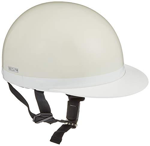 バイクパーツセンター ヘルメット ハーフ 白ツバ ホワイト フリーサイズ (頭囲 57cm~59cm未満) 7108