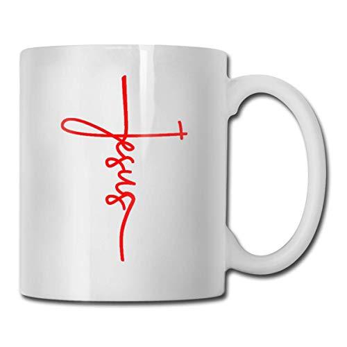 Jesus Cross Keramik Kaffeetasse, Büro, Zuhause, Geschenk, Spaß, Liebhaber Tasse