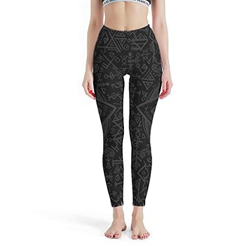 LPLoveYogaShop Leggings vikingos para mujer, de Awe Valknut Fathurk, gráficos sólidos, pantalones de yoga, pantalones de entrenamiento para yoga blanco XXXL