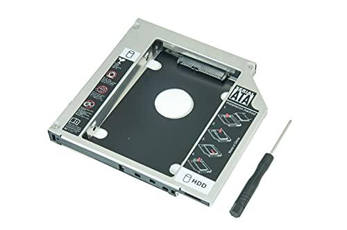 Adaptador Caddy 9.5mm P/ Substituir Drive de DVD Macbook Pro Apple Ano 2009, 2010, 2011 e 2012 por HD e SSD.