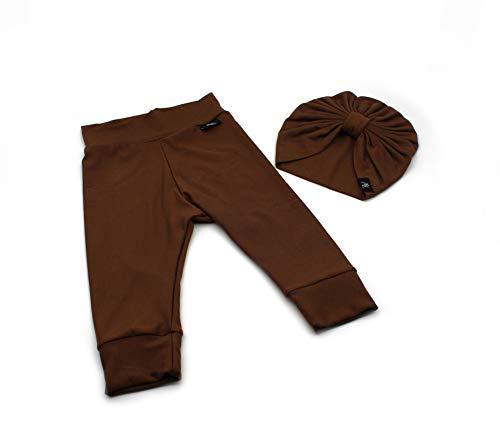 Anna Karinna Kids Bamboo - Conjunto de mallas y turbante para bebé marrón 56 cm