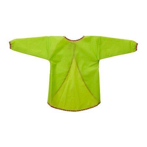 2 XIKEA Kinderkittel 'Mala' Malkittel mit langen Ärmeln - abwaschbar - maschinenwaschbar - GRÜN