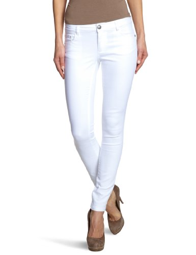ONLY Damen Skinny Jeanshose Normaler Bund 15071626/Regular Ultimate Colour Noos, Gr. 42/32 (XL), weiß (WHITE)