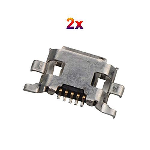 2X Micro-USB Buchse Lade Anschluss passend für Motorola Moto G2 G+1 XT1063 XT1064 XT1068 XT1069