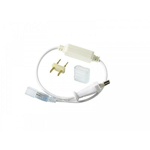 Jandei - Kit conexión tira led 220V 6A SMD5050. Enchufe y capuchón