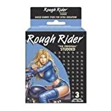 Rough Rider Singles 'THE ORIGINAL' STUDDED CONDOMS Premium Lubricated Latex Condoms - 12 Packs 3 Condoms in Each Pack (36 Condoms Total)