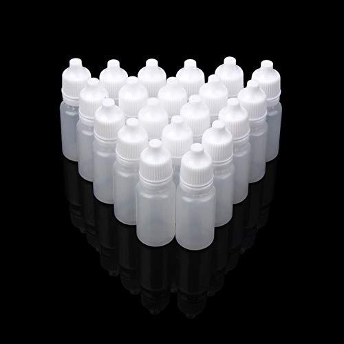 TOSISZ Botellas De Gotero Exprimibles De Plástico Vacías De 10 Ml Botellas Recargables De Gotero Líquido para Ojos-10Ml, 100Pcs