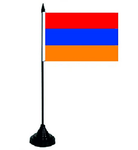 U24 Tischflagge Armenien Fahne Flagge Tischfahne 10 x 15 cm