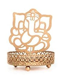 metal decor candle holder of lord ganesha