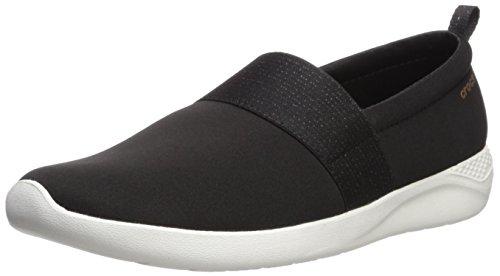 Crocs LiteRide - Zapatillas para mujer con comodidad innovadora, Negro (Negro/Oro Rosa/Blanco),...