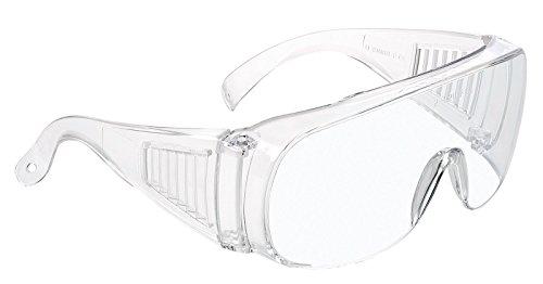 Univet 520 Schutzbrille, zum Tragen über regulären Brillen, transparent