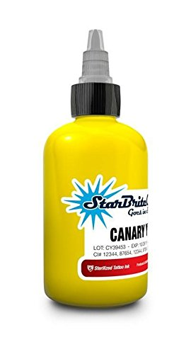 StarBrite Colors Tattoo Ink by Tommy's Supplies – Canary Yellow – 2oz Bottle