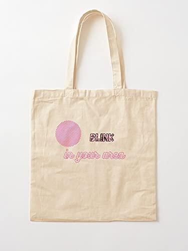 Korean Lovely Area Pink Patterns Blink and Your Black | Einkaufstaschen aus Leinen mit Griffen, Einkaufstaschen aus nachhaltiger Baumwolle