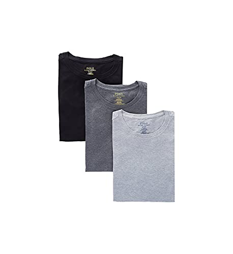 Polo Ralph Lauren Slim Fit w/Wicking 3-Pack Crews Andover Heather/Madison Heather/Black LG
