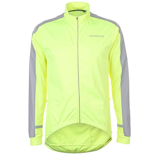 Muddyfox Mens Nite Windproof Jersey Cycle Long Sleeve Cycling Top Lightweight Yellow M