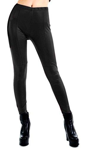 V-SOL Polainas Pantalones Para Mujer Señora De Cuero Imitación De Pr