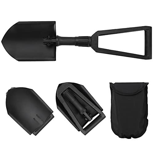 Portable Shovel Folding Triple fold Design Folding Shovel for Camping Fishing Backpacking Garden Beach and Snow Emergencies
