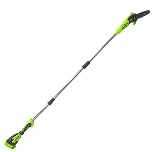 Greenworks Akku-Hochentaster G40PSF (Li-Ion 40V 20cm Schwertlänge 8 m/s Kettengeschwindigkeit Alustange 3-teilig ohne Akku und Ladegerät)