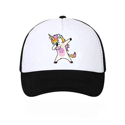 YanLong Einhorn DAB Baseballnetz Mütze Männer und Frauen Sonnenschirm Liebhaber Hut Schwarz
