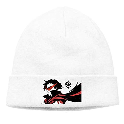AMZOPDGS Tengen Toppa Gurren Lagann Men's and Women's Beanie, Casual Fashion Soft and Comfortable Cap (Thin Type) White