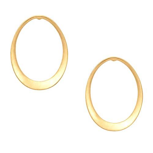 Stella and Dot Georgia Hoops Earrings Gold