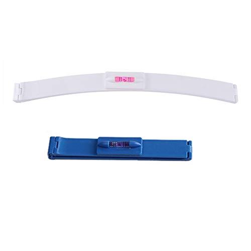 2 piezas de herramientas de corte de pelo femenino flequillo cortadora de pelo cola de pelo recortadora en capas peine de peinado DIY nivelador de pelo (blanco + azul)