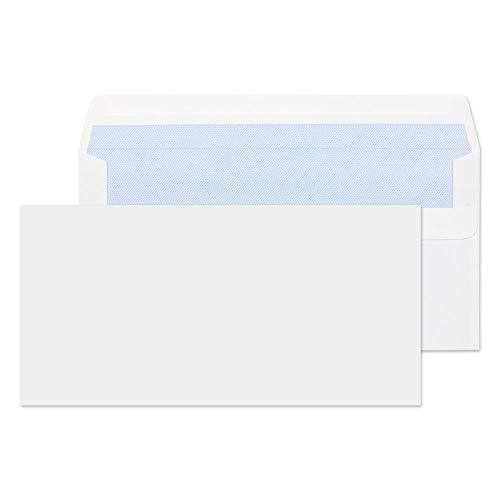 Purely Everyday - Buste formato DL con chiusura adesiva, confezione da 50 pezzi, colore: bianco