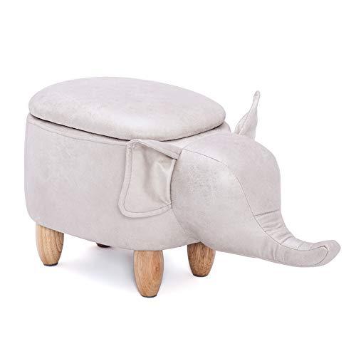 YCSD Taburete De Cuero De PU con Forma De Elefante Taburete Otomano para Reposapiés Multifuncional