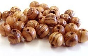 600~ Olive Wood 7mm Round Beads Polished Rosary Jewelry Bethlehem Jerusalem