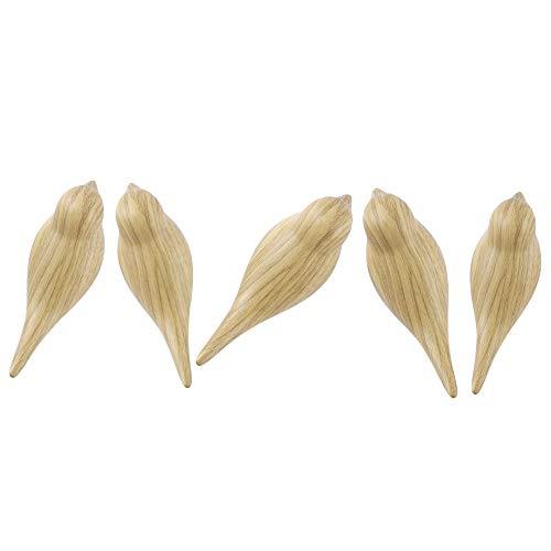 DesignSter 5 Stück Wenig Kleiderhaken aus Kunstharz,Holzmaserung 3D Vogel, Wandmontage, rustikaler Vogel für Hut, Handtuch, Tasche