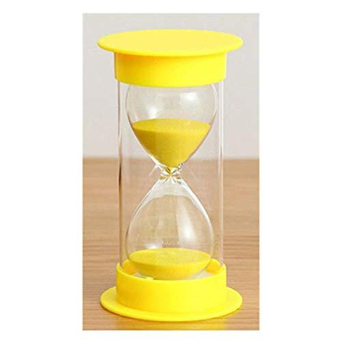 Toirxarn Reloj de arena, doble protección, asistente de gestión del tiempo, regalo creativo, decoración de la oficina de la sala de estar - 10 minutos Amarillo