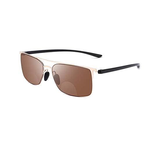 Gafas de lectura de sol de doble luz, gafas de sol polarize'd ligeras, lectores cómodos, negro JoinBuy.R