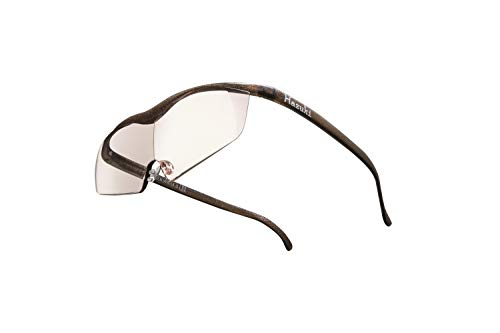 Hazuki ハズキルーペ 直営店 公式店 限定 倍率交換保証付き ラージ 1.6倍 カラーレンズ ブラウン ハズキ 拡大鏡 ルーペ メガネ型 眼鏡型 めがね型 メガネ 眼鏡 めがね 日本製 MADE IN JAPAN ギフト