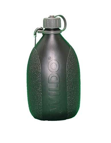 BKL1 Wildo Hiker Bottle Schwarz Trinkflasche Outdoor Camping Wandern Feldflasche BW Dosenöffner