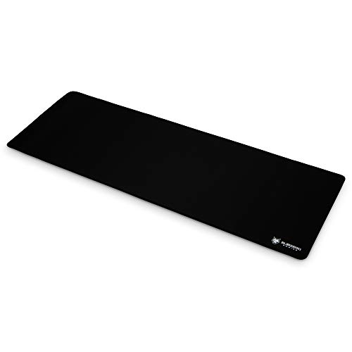 SubZERO Gaming TYKA Extended Soft Gaming Mouse Pad, Long XL, Stitched Edges, 36'x12' (Black)