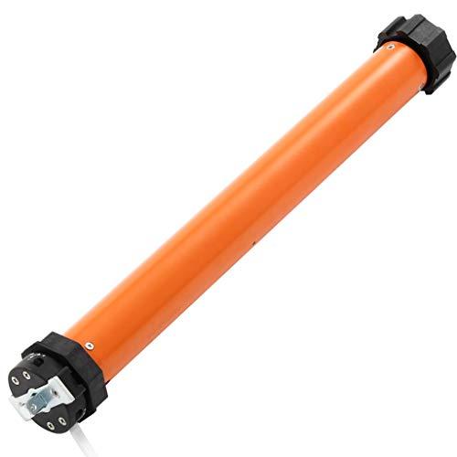 UnfadeMemory Motor Tubular para Persianas Enrollables,Automatización de Toldos,Puertas de Garajes y Pantallas de Protección Solar,Naranja (Par de Torsión de Salida 20Nm,Diámetro 45mm, 1uds)