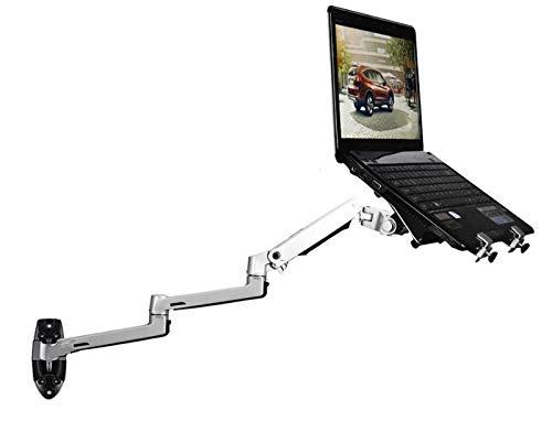Sunter98 XSJ8013WT Wall Mount Laptop Holder Ultra Long Arm Aluminum Mechanical Spring Full Motion Laptop Mount Arm Monitor Holder Lapdesk