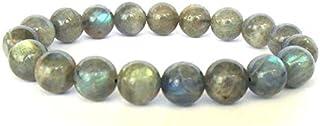 Neerupam Collection Gris avec flash Bleu Couleur Naturel africain labradorite Pierre pr/écieuse de pierres semi-pr/écieuses Uni Perles Rondelles Forme 3/lignes Courroie 33/cm Strand