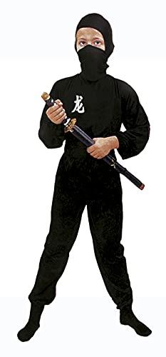Fiori Paolo- Black Ninja Costume Bambino, Nero, M (5-7 anni), 61105.M