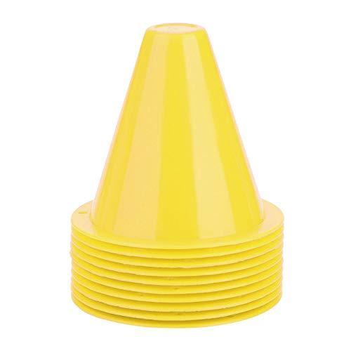 Szyszki do treningu, 126g Trwałe pachołki sportowe, bariery piłkarskie Plastik Niezniszczalny do treningu piłkarskiego Uchwyt na znacznik Akcesoria Kontrolowanie(yellow)